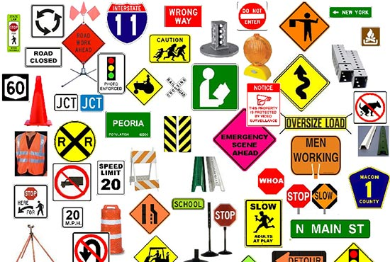 Traffic signs miami banners signs for De signs